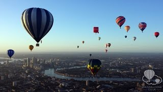Hot Air Balloon Flight Over Central London, June 2015, GoPro HD