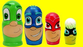 PJ Masks Toy Nesting Doll with Disney Toys Surprises and PJ Masks Transform!