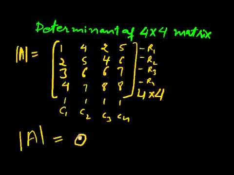 determinant of 4x4 matrices part 1 youtube. Black Bedroom Furniture Sets. Home Design Ideas