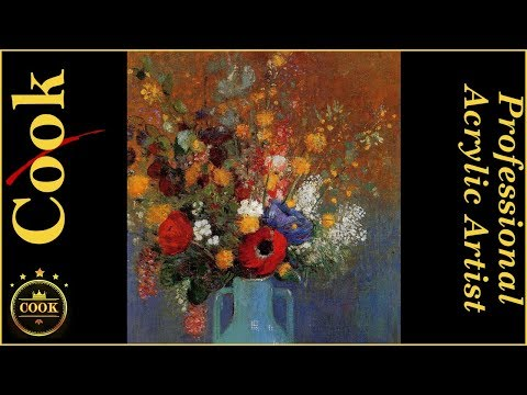 Bouquet of Wild Flowers Beginning Acrylic Painting Tutorial