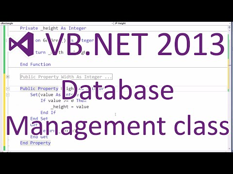 VB.NET 2013: Databases - DB Manager Class (Part 5/5)