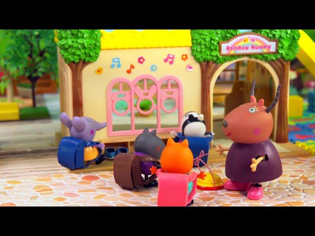 🐽佩佩豬玩具故事【森林幼兒園】🏡🌲🚗