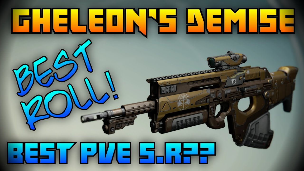 Destiny best gheleon s demise roll ever beast iron banner scout