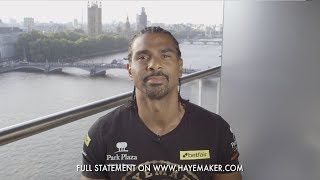 David Haye announces retirement from professional boxing