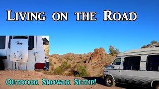 Living On the Road Outdoor Shower - Van Life