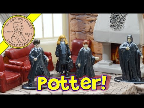 Harry Potter Nano Scene Die Cast Metal Figures - Harry Potter & Friends In Gryffindor Tower