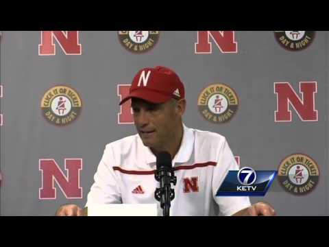 Mike Riley addresses the media after Huskers lose to Wisconsin