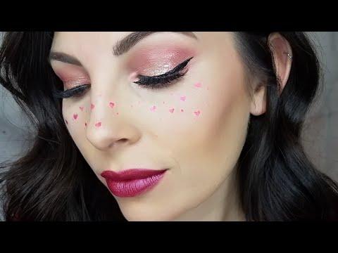 Valentine Makeup & Hearts