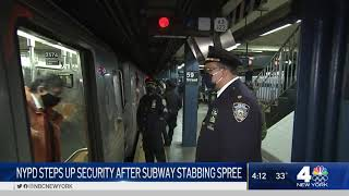 NYPD Steps Up Security After Subway Stabbing Spree | NBC New York