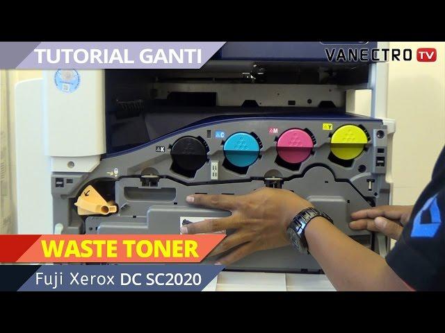 Simple Ganti tabung Waste TONER Mesin fotocopy #FujiXerox DocuCentre SC2020