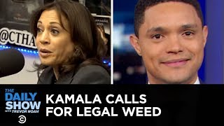 Kamala Harris Wants to Legalize Weed & Amy Klobuchar's Temper Is Questioned | The Daily Show