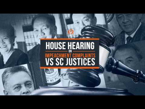 LIVE: House hearing on impeachment complaints vs justices