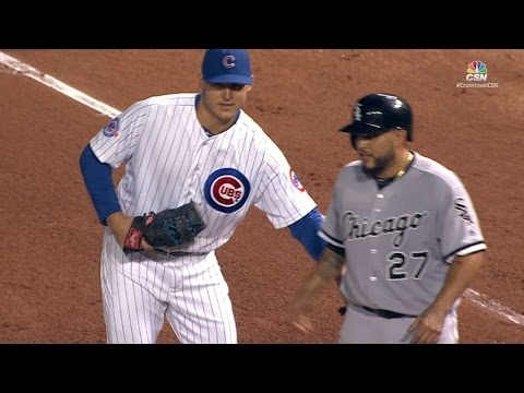 CWS@CHC: Rizzo and Navarro mess with each other