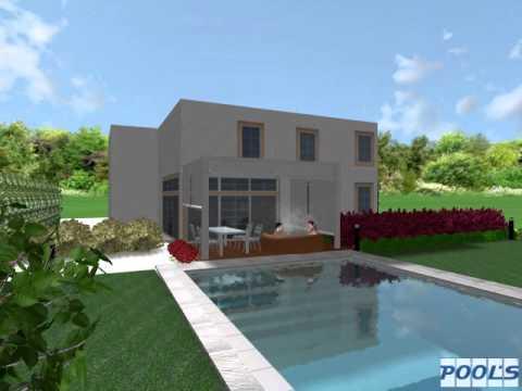Rendering di una piscina by progetto piscine youtube - Progetto villa con piscina ...