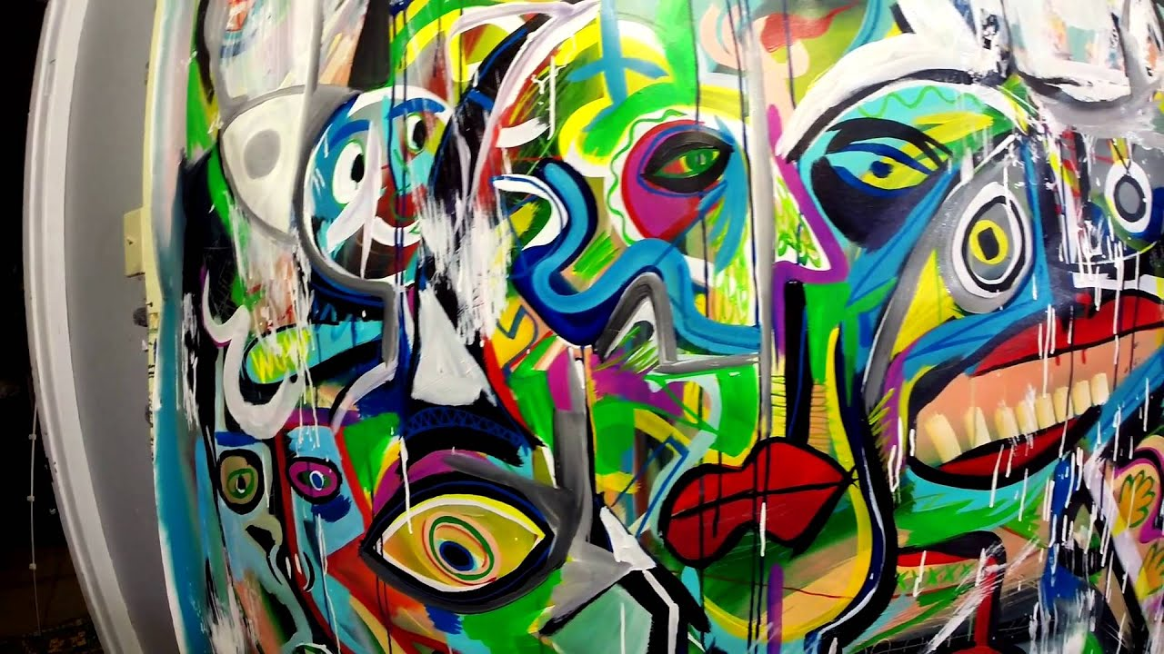 huge abstract painting large canvas 60 x70 acrylics by raeart youtube