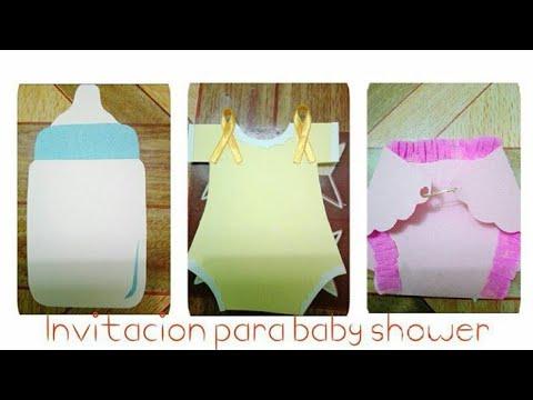 3 Tarjetas De Invitacion Para Baby Shower De Niño Y De Niña Babyshower Invitaciones Manualidades