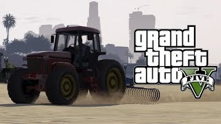 "GTA 5 Online: How To Get The ""Tractor with Sand Rake Attachment"" - Secret & Rare Vehicles Online"