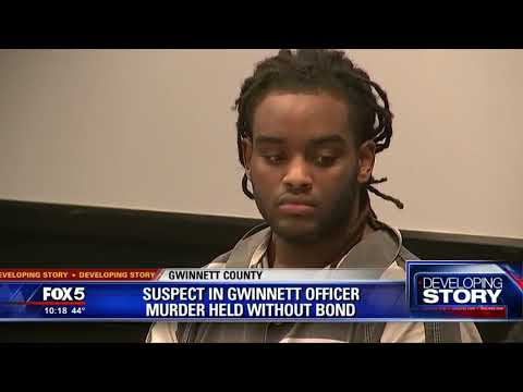 Suspect in Gwinnett officer murder held without bond