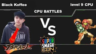 Ep4 Brawl Black Koffee(Donkey Kong) vs Level 9 CPU(Samus)