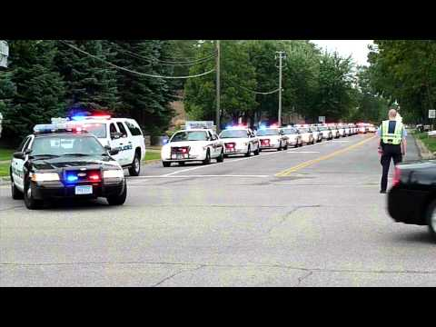 Cars On Line >> Deputy Dewey Funeral Pt 1 First Half Of The Car Line Youtube