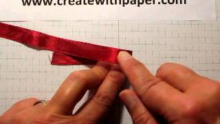 How to make a beautiful flat bow
