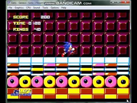 Let's Play Sonic 3 Resort Island on Gens11b SEGA Genesis Emulator Download  Link