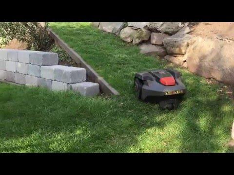 husqvarna automower 305 first time parking in garage doovi. Black Bedroom Furniture Sets. Home Design Ideas