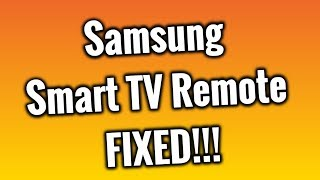 Fix Your Samsung Smart TV Remote!