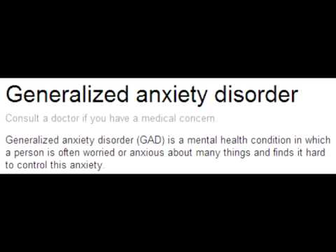 Generalized Anxiety Disorder & Adjustment Disorder