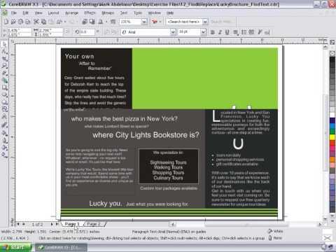 corel draw x3 tutorial pdf