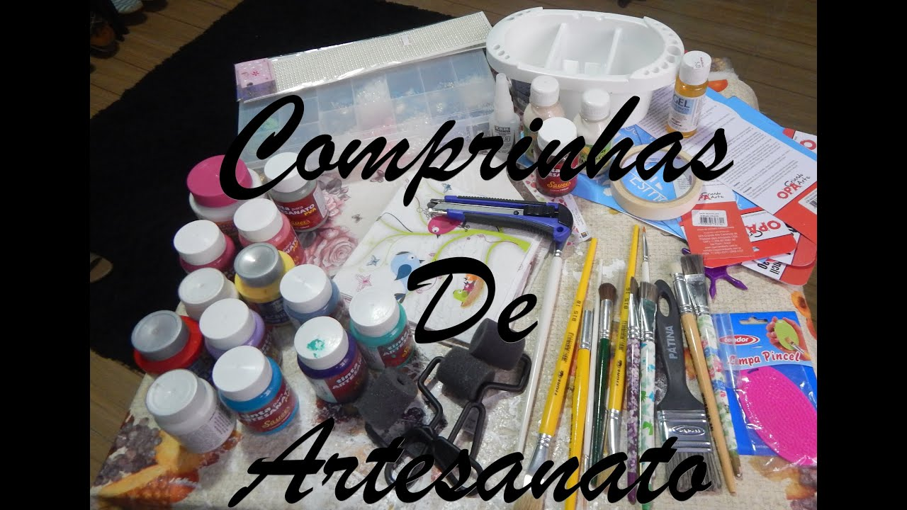Artesanato Reciclavel Com Cd ~ Comprinhas de Artesanato em MDF YouTube