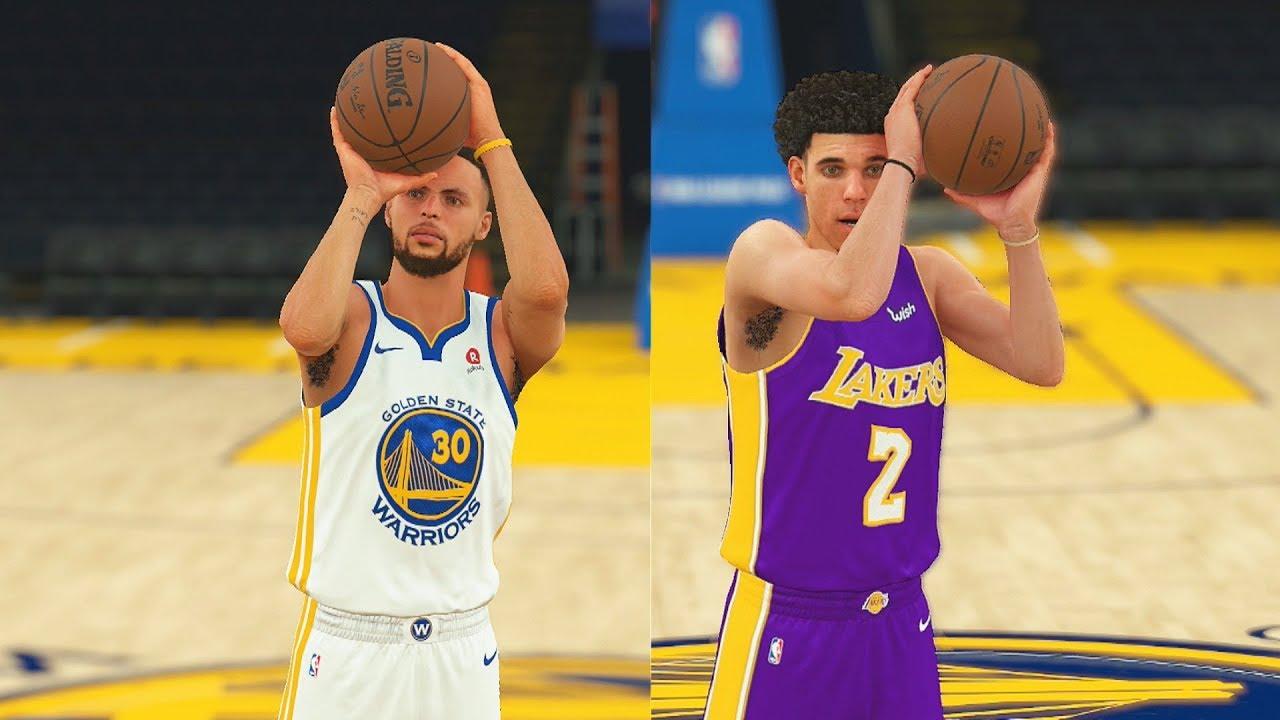 2893e50e0490 Stephen Curry vs Lonzo Ball 3 Point Contest! Can Lonzo Ball Beat Stephen  Curry 1 vs 1  NBA 2K18