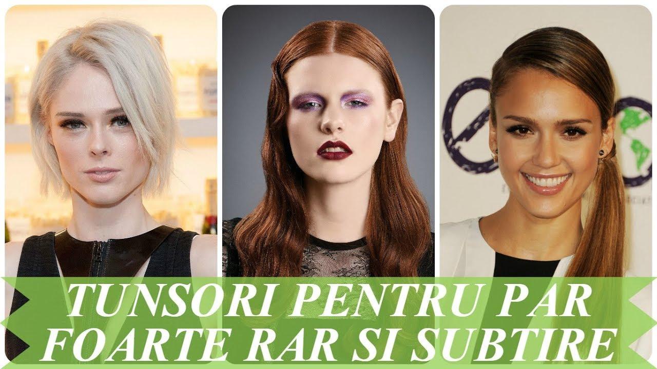 Modele De Tunsori Pentru Par Foarte Rar Si Subtire 2018 Youtube