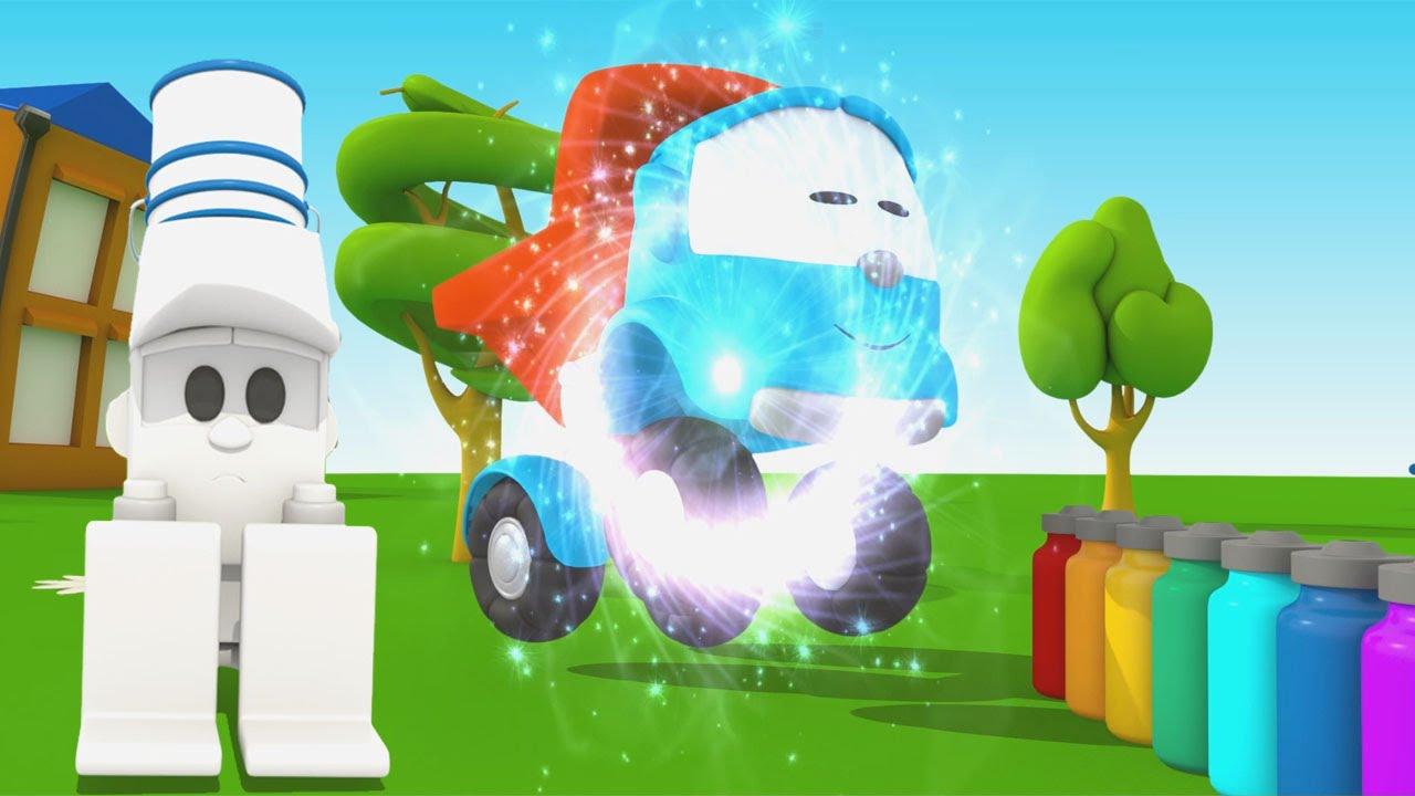 Cartoni animati per bambini camioncino leo junior