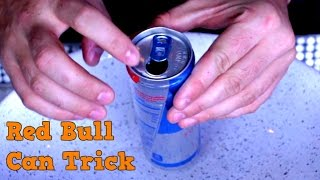 Cool Red Bull Can Trick