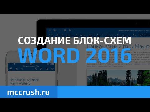 Word: Создание блок-схем Word 2016