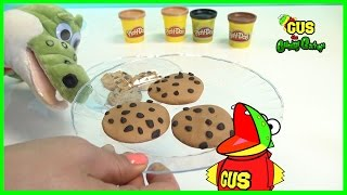 Play Doh Chocolate Chip Cookie! How to Make DIY Playdough desserts for Children Creative Play