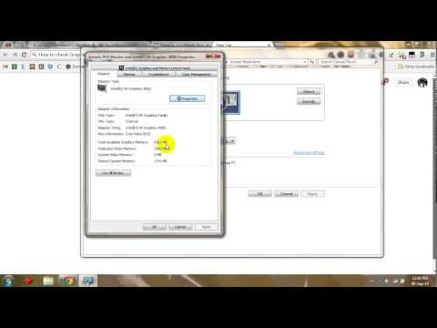 How to Check Graphic Card Memory on Windows 7