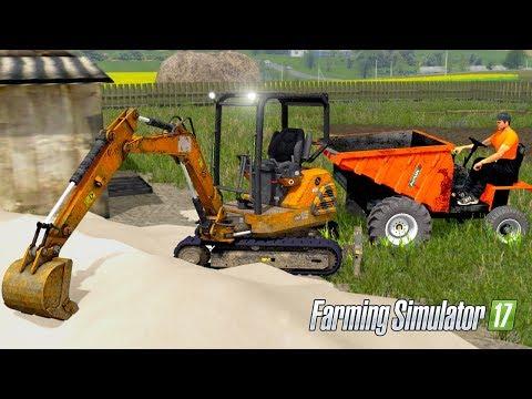 Farming Simulator 2017 - MINI EXCAVATING! Ausa D600AP Dumper & Nomad Excavator