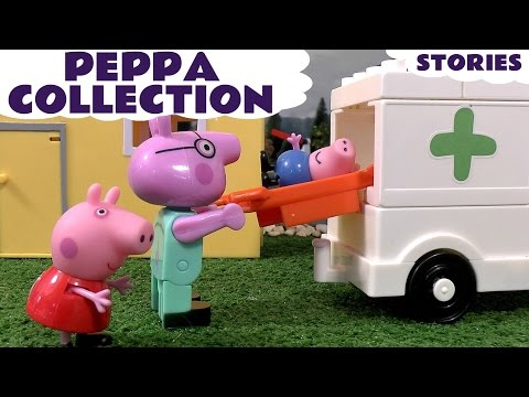 Peppa Pig English Episode Collection with Surprise Eggs & Thomas and Friends Toys Fun Stories