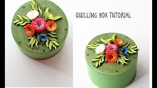 How to make a Quilled box/Quilling box tutorial
