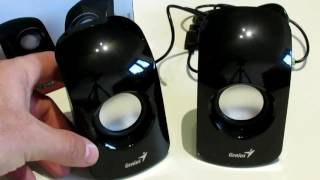 Loudspeaker GENIUS SP-U115 1,5W review, unboxing