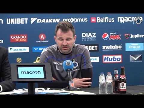 Live persconferentie voor Genk - Club Brugge
