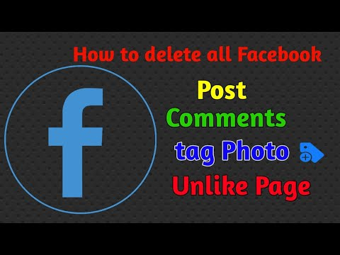 HOW TO DELETE ALL FACEBOOK POST COMMENTS TAG PHOTO UNLIKE ALL FACEBOOK PAGE 2020 Trick