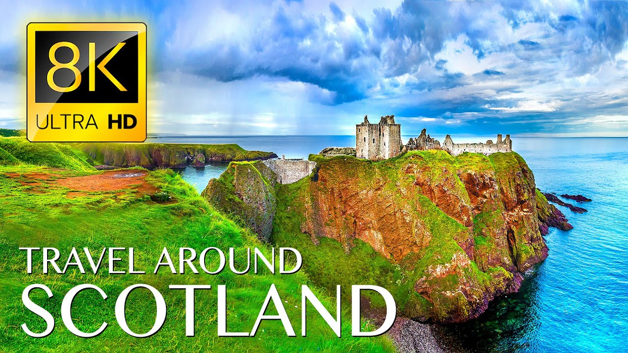 Unique Trip to SCOTLAND in 8K ULTRA HD - Best Places in Scotland with Relaxing Music 8K TV