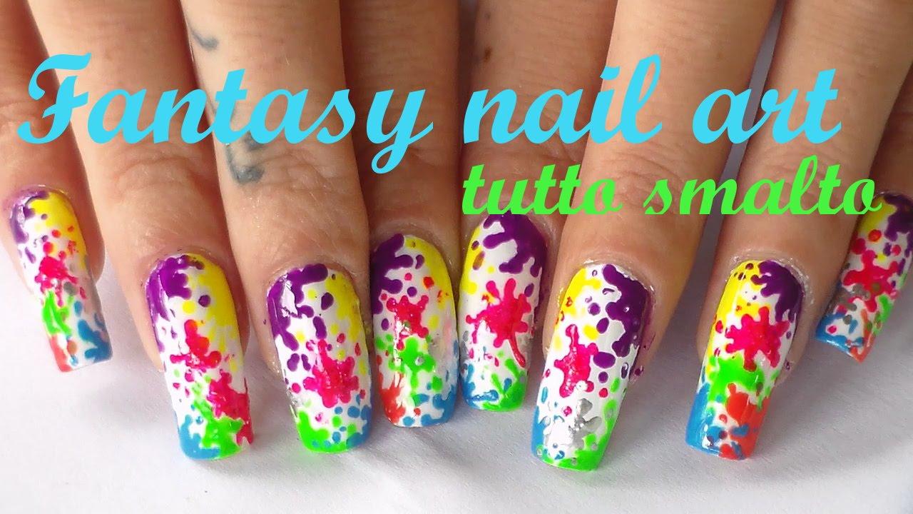 Fantasy nail art -concorso fantasia - YouTube