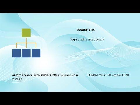 OSMap Free – карта сайта для Joomla