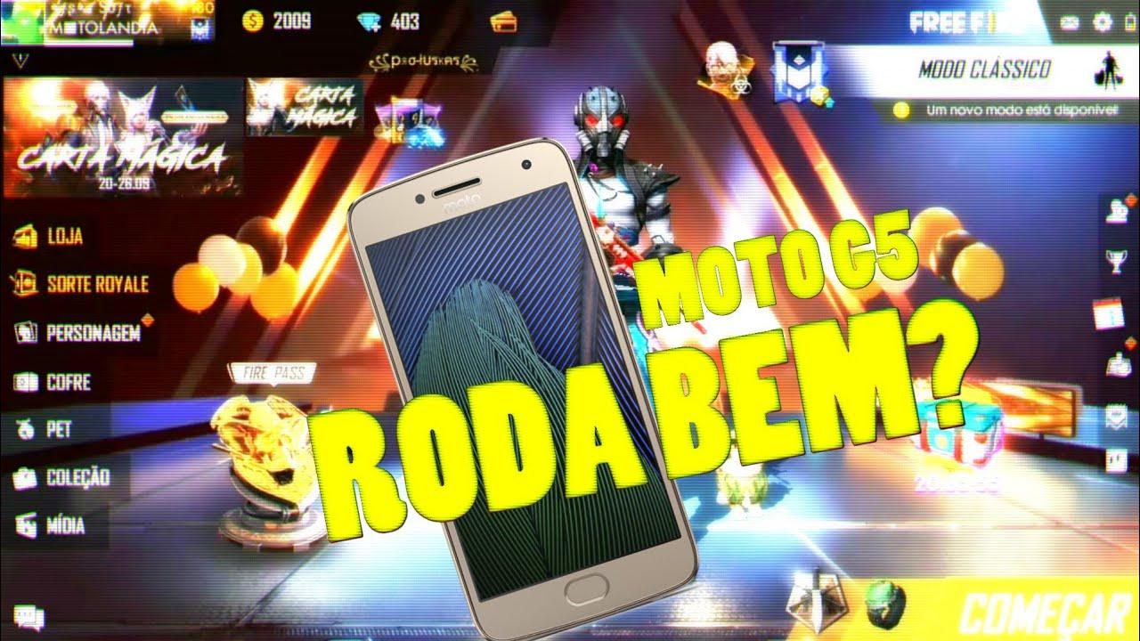 RODANDO FREE FIRE NO MOTO G5 (FREE FIRE)