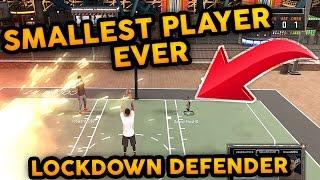 SMALLEST PLAYER EVER ! 55 OVR LOCKDOWN DEFENDER I GOT EXPOSED ! NBA 2K17 MyPARK | WORLD RECORD