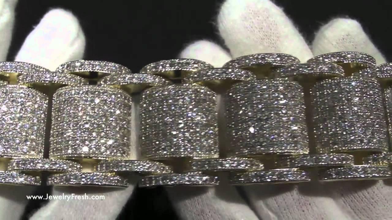 Black And White Diamond Wallpaper Jumbo Gold High End Simulated Diamond Bossman Bling